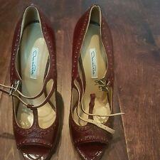 Brand New Oscar de la Renta Stiletto Heels, dark red, size 41