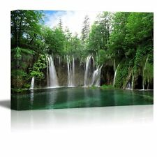 "Canvas Prints Wall Art - Waterfall in Plitvice National Park, Croatia- 24"" x 36"""