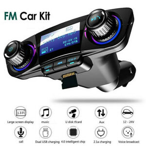 BT Car FM Transmitter MP3 Player Hands free Radio Adapter Kit USB Charger