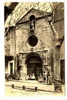 CPA 04 Alpes-de-Haute-Provence Manosque L'Eglise Notre-Dame animé