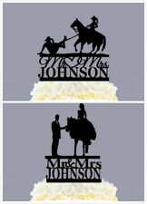 Personalized Mr & Mrs Bride And Groom Funny Wedding Cake Topper With Horse Gift