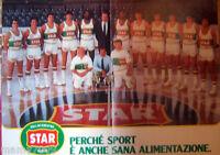 POSTER=PALLACANESTRO VARESE STAR 1984=CM  53X29