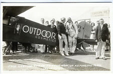 Pilots Refueling Plane Outdoor Cosmetics Stanavo Oil Real Photo RPPC Postcard