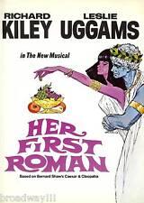 "Leslie Uggams (Signed) ""HER FIRST ROMAN"" Richard Kiley '68 FLOP Souvenir Program"