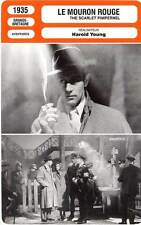 FICHE CINEMA : LE MOURON ROUGE - Howard,Oberon,Young 1935 The Scarlet Pimpernel