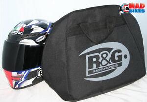 Deluxe Motorcycle Helmet Bag R&G Racing Motorbike Full Face Fleece Lined Storage