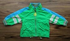 Oilily Boys 24 Months Rocket Taxi Green Blue Lined Pockets Jacket Rare Size 86