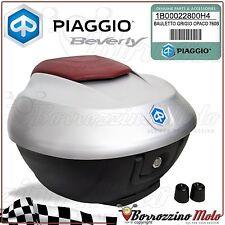 KIT BAULE BAULETTO CON PIASTRA ORIGINALE PIAGGIO BEVERLY 350 36 LT GRIGIO OPACO