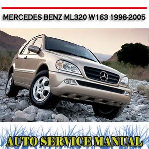 MERCEDES BENZ ML320 W163 1998-2005 WORKSHOP SERVICE REPAIR MANUAL ~ DVD