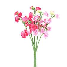Soie artificielle Pois de senteur Cerise et Tiges De Roses Couleur Bonbon fleurs
