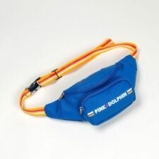 Pink Dolphin Men's Fanny Pack Leather Logo Sling Bag Pouch Blue Accessories 2019