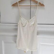 Mary Jo Bruno Lingerie Bodysuit One Piece in Cream / White Velvet, Size S