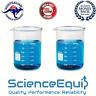 Glass Beaker Kit Graduated,Research Grade, 100 250 500 & 1000 ml, 4 in a Pack
