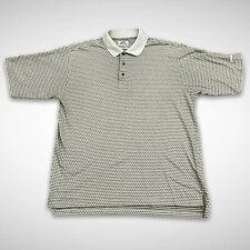 Slazenger Men's XL Gray Abstract Golf Apparel Mojave Dry Polo Shirt