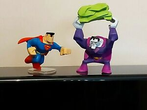 MATTEL DC UNIVERSE SUPERMAN VS BIZARRO FIGURES. IDEAL FOR CAKE TOPPERS TOO