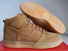 "NIKE DUNK HI HIGH PREMIUM (GS) ""WHEAT FLAX"" SZ 6.5Y-WOMENS SZ 8 [886070-200]"