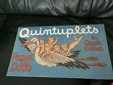 Queen Holden 1988 Quintuplets Paper Dolls Book