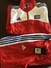 Mens Rare Vintage Embroidered Adidas Cuba National Team Soccer Set Jacket/Pants
