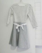 Polo Ralph Lauren Girls Striped Fit & Flare Dress Gray Multi Sz M (8-10) - NWT