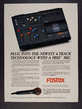 1987 Fostex X-30 Multitracker Recorder vintage print Ad