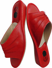Sandali Pantofole - - Clogs MIS. 39, Vera Pelle, Rosso (pl.25-4-4-22)