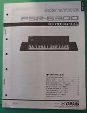 Original Yamaha Portatone PSR-6300 Digital Keyboard Service Manual