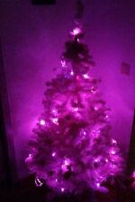 2x Tannenbaum 1,50m & LED Leuchtkette Pink Rosa 100 Leuchten 10m Weinachtsbaum