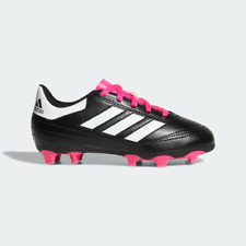 Adidas Kids Goletto FG Soccer Cleats (Black/Pink) (2.5Y) BB0571