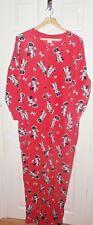 NWT Disney ladies MINNIE MOUSE red fleece all in one pyjamas size UK 14 - 16