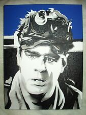 Canvas Painting Ghostbusters Ray Stantz Dan Aykroyd Blue Art 16x12 inch Acrylic