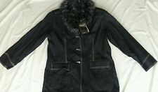 NWT NEW Womens Coat Jacket Black Lined Denim Jean Size Large L All Categories