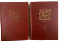 American Poetry And Prose Volumes One And Two 1947 By Norman Foerster Vintage