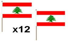 Lebanon Waving Hand Flag 12 Pack Decoration Lebanese Middle East National