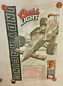 Indianapolis Indy 500 2001 COORS LIGHT Vinyl Schedule Banner BUDDY LAZIER New