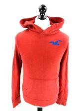 HOLLISTER Mens Hoodie Jumper S Small Red Cotton & Polyester