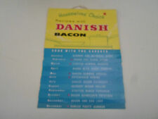 Vintage Retro Illustrated Danish Bacon Calendar for 1962 With Recipes Nostalgic