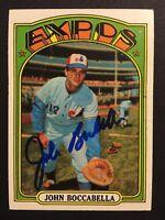 John Boccabella Expos Signed 1972 Topps Baseball Card #159 Auto Autograph 1