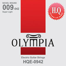 Olympia Electric Guitar String Set Gauge 9-42 High Quality Steel + Nickel Wound