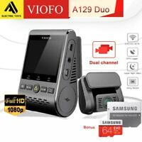 Viofo A129 Duo 2Lens Dash Camera Twin SONY Star Sensr 5GHz WIFI GPS+Samsung 64GB