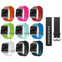 For Fitbit Blaze Replacement Silicone Watch Band Protective Case Sport Strap US