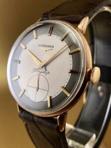 VINTAGE & FINE LONGINES 2 TONE DIAL GOLDEN CASE  HAND WINDING  1950's WristWatch