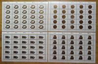 25 x Bund 1333 - 1336 sauber postfrisch LUXUS Bogen Satz BRD Formnummer 4,2,1,3