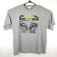 NFL Football Super Bowl XXXVII 2003 Raiders vs Buccaneers Gray T Shirt Size 2XL
