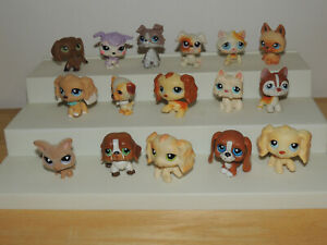 Littlest Pet Shop Lot 16 Dogs Puppy Cats Kitty Authentic LPS