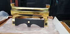 """Brass & Black """"Leda"""" Fireplace Freestanding Front Fret for Gas Electric Fire"""