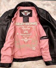 ~!Women's HARLEY-DAVIDSON Genuine Leather LEGENDARY Studded Jacket.Size 1W,2XL~