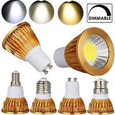 GU10 MR16 GU5.3 E27 E14 B22 Regulable SMD Cob LED Foco Bombilla 9W 12W 15W Luces