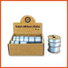 36 x SATIN RIBBON ROLLS Light Blue Gift Scrapbook Sewing Craft Tie Hair Bow