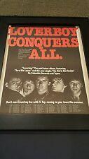 Loverboy Conquers All Rare Original Promo Poster Ad Framed!