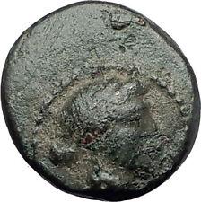 SARDES in LYDIA 133BC Apollo Club Wreath Authentic Ancient Greek Coin i61181